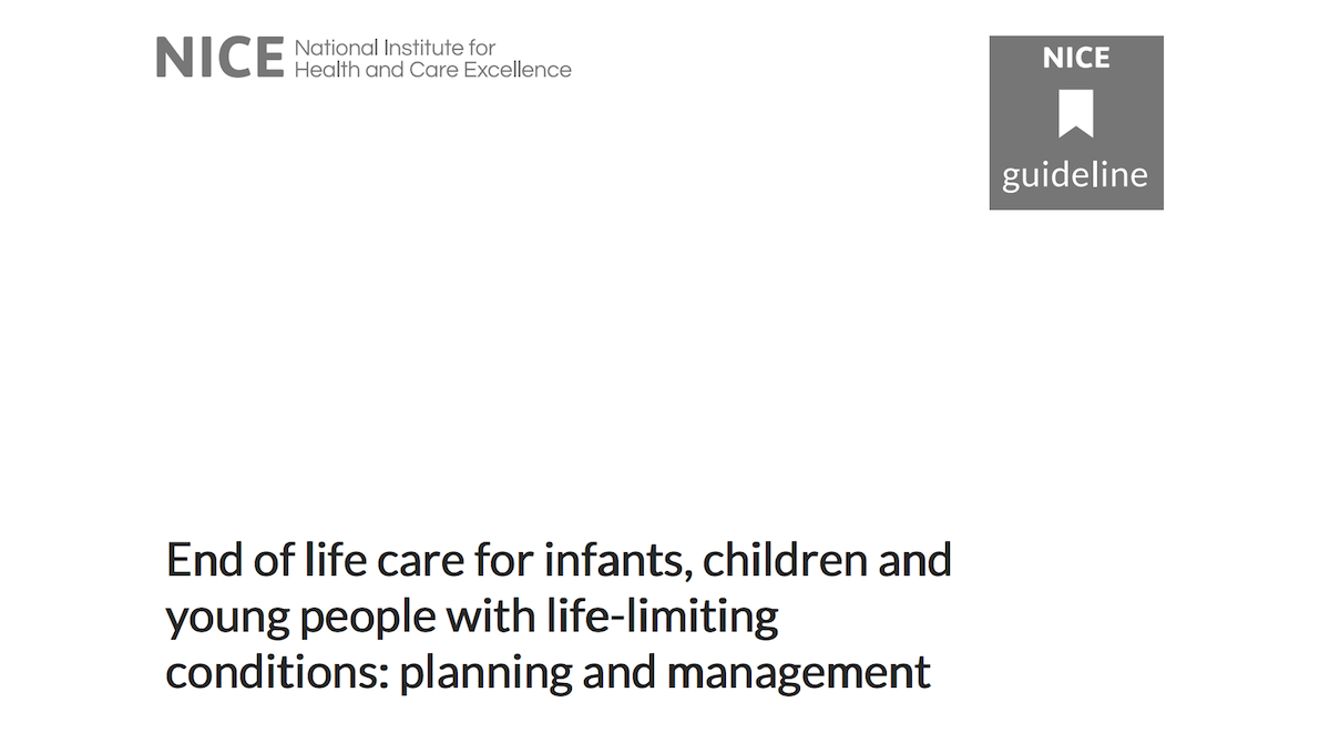 End of Life Care for Infants Children and Young People