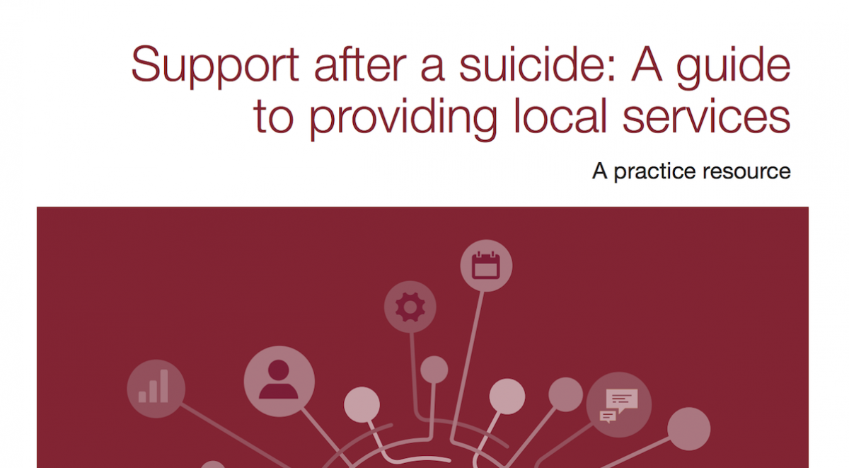 Front cover of Support after a suicide