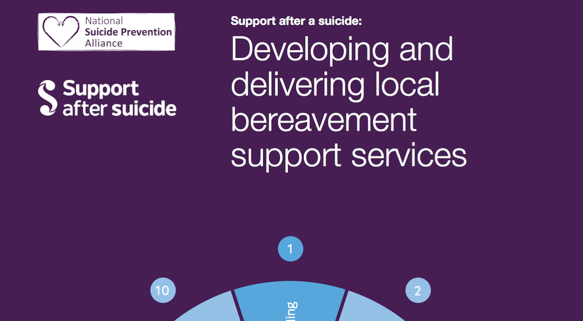 Front cover of Developing and delivering local suicide bereavement support services