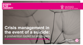 Front cover of Crisis management in the event of a suicide