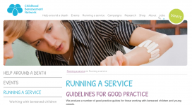 Childhood Bereavement Network Checklist for Good Practice