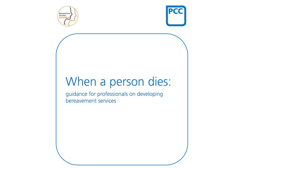 Front cover of When a person dies
