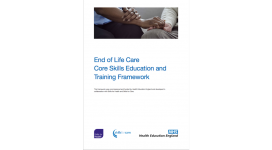 Front Cover of End of Life Care Core Skills and Training Framework